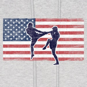 Ash  Fighter USA Hoodies - Men's Hoodie