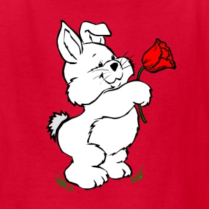 Red easter_bunny Kids' Shirts - Kids' T-Shirt