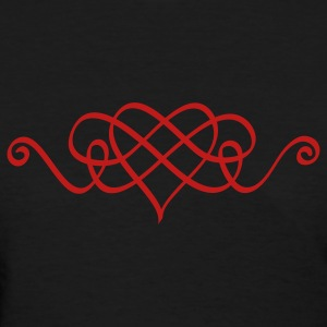 Calligraphic Heart - Women's T-Shirt