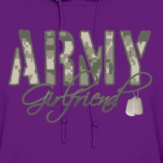 Light pink Army Girlfriend- Dog Tags Hoodies