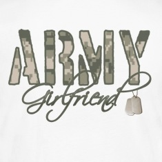 White Army Girlfriend- Dog Tags Long Sleeve Shirts