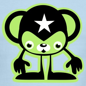 Green/white Cool Monkey 3C T-Shirts - Men's Ringer T-Shirt