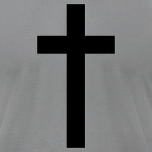 Slate a simple cross T-Shirts - Men's T-Shirt by American Apparel