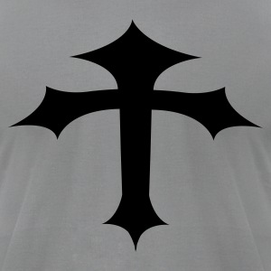 Slate gothic cross bending T-Shirts - Men's T-Shirt by American Apparel