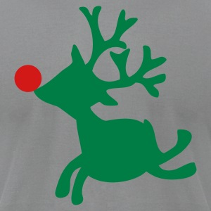 Slate rudolph the red nosed reindeer left T-Shirts - Men's T-Shirt by American Apparel