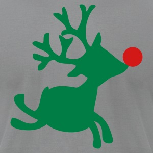 Slate rudolph the red nosed reindeer right T-Shirts - Men's T-Shirt by American Apparel