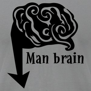Slate man brain down there T-Shirts - Men's T-Shirt by American Apparel