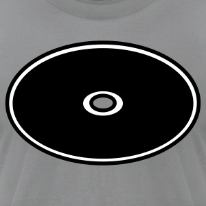 Slate cd disk shape T-Shirts - Men's T-Shirt by American Apparel
