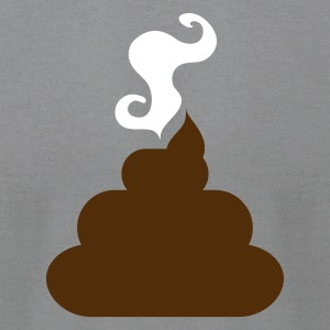 Slate turd poo steaming pile  of crap 2 T-Shirts - Men's T-Shirt by American Apparel