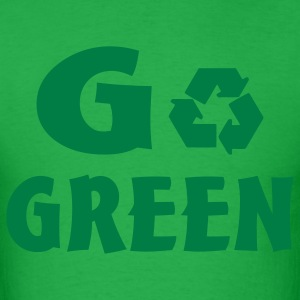 Bright green go green T-Shirts - Men's T-Shirt