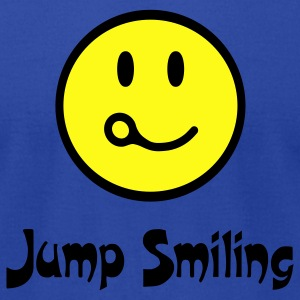 Royal blue Jump Smiling T-Shirts - Men's T-Shirt by American Apparel