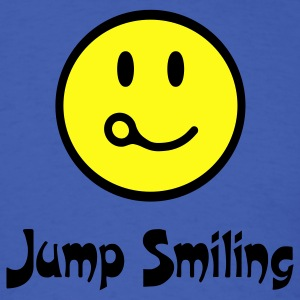 Royal blue Jump Smiling T-Shirts - Men's T-Shirt