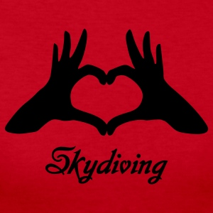 Red Love Skydiving Long Sleeve Shirts - Women's Long Sleeve Jersey T-Shirt