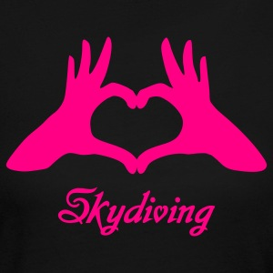 Black Love Skydiving Long Sleeve Shirts - Women's Long Sleeve Jersey T-Shirt