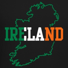 Black ireland  Long Sleeve Shirts
