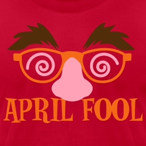 Eggplant APRIL FOOL! april fools day with fake disguise  T-Shirts - Men's T-Shirt by American Apparel