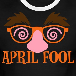 Chocolate/tan APRIL FOOL! april fools day with fake disguise  T-Shirts - Men's Ringer T-Shirt