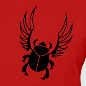 Red Egyptian Scarab Beetle Women's T-Shirts - Women's T-Shirt