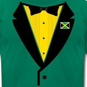 Jamaican Tuxedo - Men's T-Shirt by American Apparel