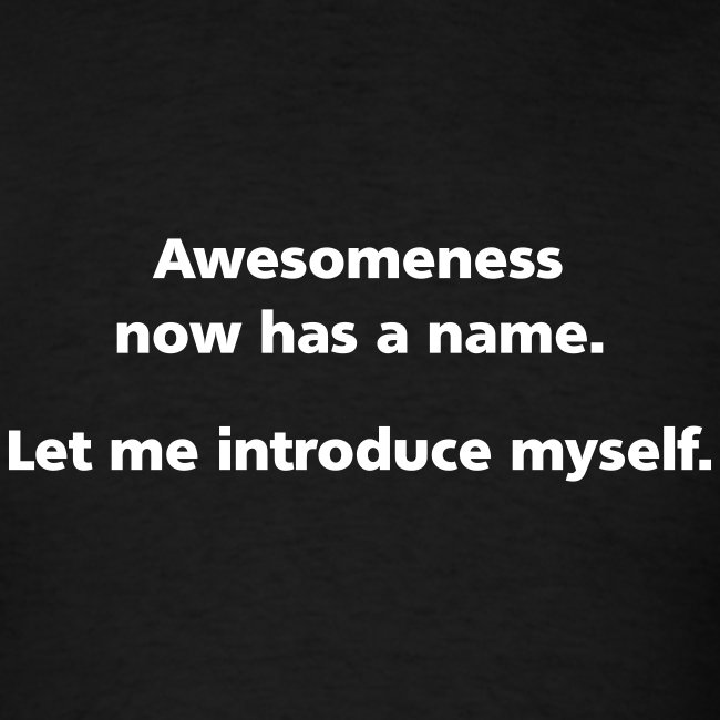 MENS SIMPLE: Awesomeness now has a name.