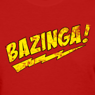 Design ~ BAZINGA Women's T-Shirt Sheldon T-Shirt