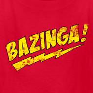 Design ~ Vintage BAZINGA Kid Size T-Shirt Sheldon Cooper T-Shirt