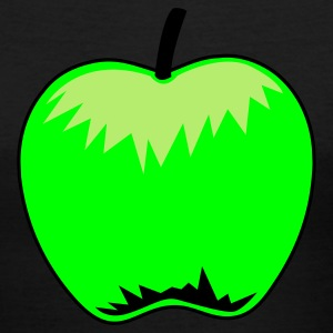 Black green apple Women's T-Shirts - Women's V-Neck T-Shirt