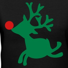 Black rudolph the red nosed reindeer left Women's T-Shirts