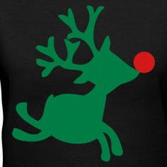 Black rudolph the red nosed reindeer right Women's T-Shirts