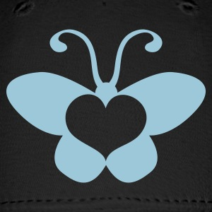 Royal blue butterfly shape with a beautiful love heart Caps - Baseball Cap