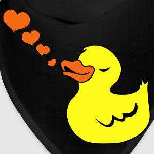 Black rubber duck love heart whistles Caps - Bandana
