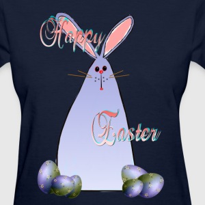 Purple Easter Bunny Lettered - Women's T-Shirt