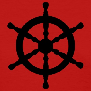 Red Nautical Wheel Women's T-Shirts - Women's T-Shirt