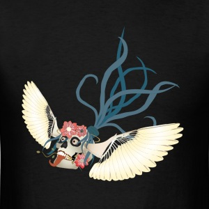 Flying Skull N Flowers - Men's T-Shirt