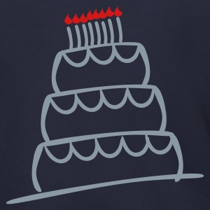 Navy Funky 3-Layer Birthday Cake With Candles And Flames  Zip Hoodies/Jackets - Men's Zip Hoodie