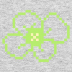 Kelly green pixel flower (blossom, 2c) Long Sleeve Shirts