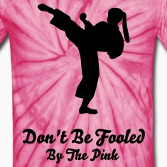 Spider pink Karate Lady T-Shirts