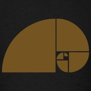 Golden Ratio, Fibonacci Spiral - Men's T-Shirt
