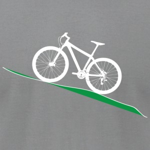 MTB Slant green - Men's T-Shirt by American Apparel