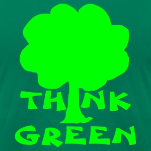 Kelly green think green T-Shirts - Men's T-Shirt by American Apparel