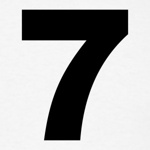 White number - 7 - seven T-Shirts - Men's T-Shirt