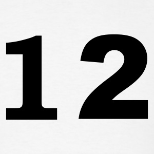 White number - 12 - twelve T-Shirts - Men's T-Shirt