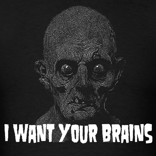 I Want Your Brains Zombie T-Shirt