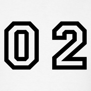 White number - 02 - zero two T-Shirts - Men's T-Shirt