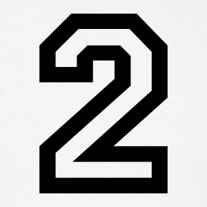 White number - 2 - two T-Shirts - Men's T-Shirt
