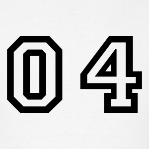 White number - 04 - zero four T-Shirts - Men's T-Shirt