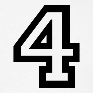 White number - 4 - four T-Shirts - Men's T-Shirt