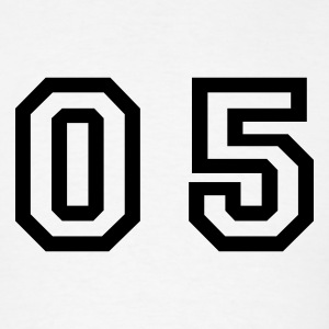 White number - 05 - zero five T-Shirts - Men's T-Shirt