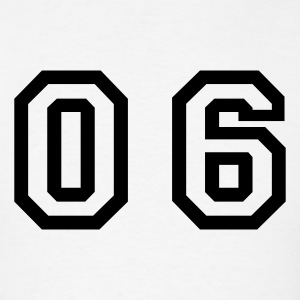 White number - 06 - zero six T-Shirts - Men's T-Shirt