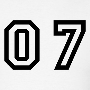 White number - 07 - zero seven T-Shirts - Men's T-Shirt